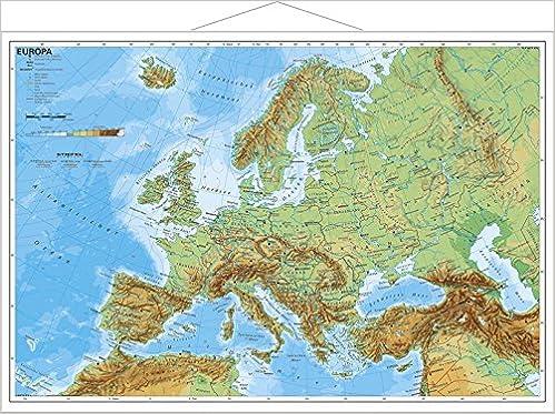 Europa Physisch Im Miniformat Wandkarte Mit Metallleiste