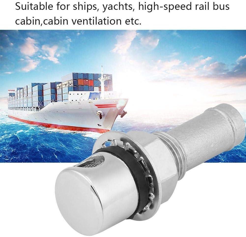 Barco combustible Vent-Acero inoxidable marina del barco recto de combustible de gas de ventilaci/ón del dep/ósito con el montaje de la junta de hardware de montaje