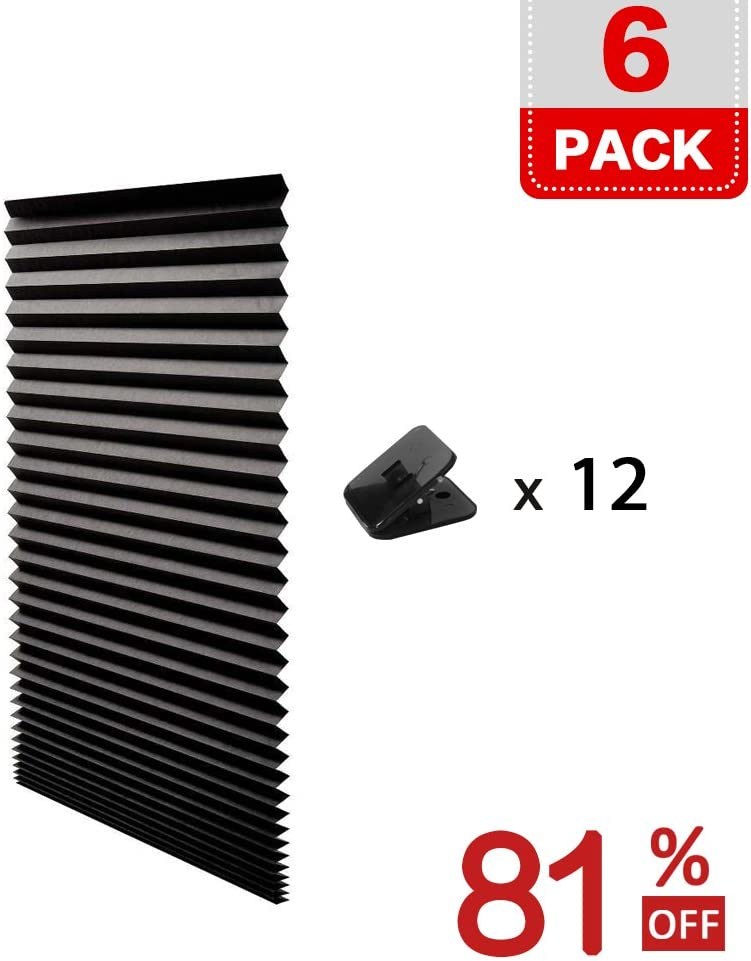Quick Fix /& Easy to Install 48 x 72 Provides Instant Security H.Versailtex 2 x White Affordable Light Filtering Instant Temporary Pleat Paper Blinds