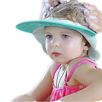 Kids Baby Child Adjustable Soft Waterproof Shield Shampoo Shower Bath Hat Cap SE
