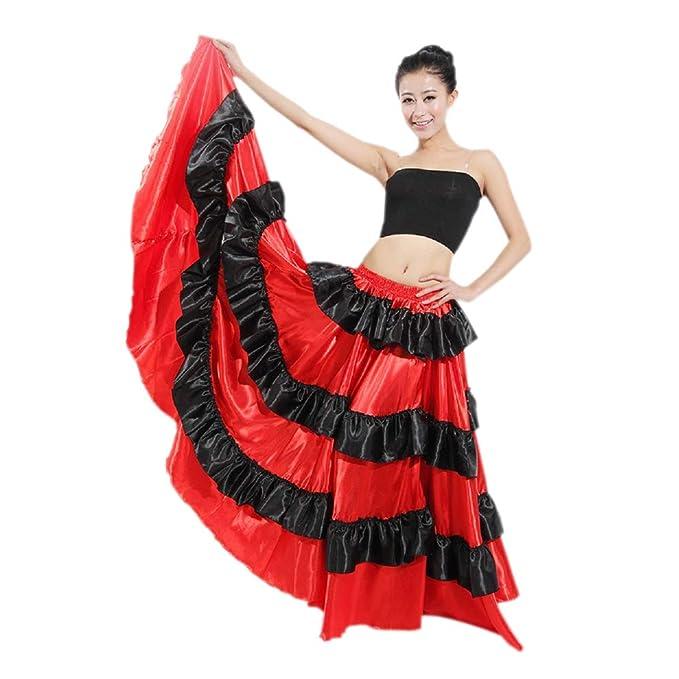 Amazon.com: Uniquetj - Falda para danza del vientre 180-720 ...