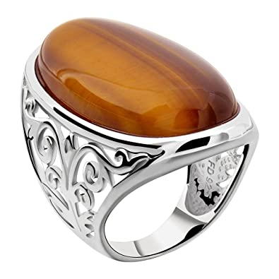 gemstone day pin stone istanbuljewellery auctions every silver rings men new eye ring tiger s jewellery