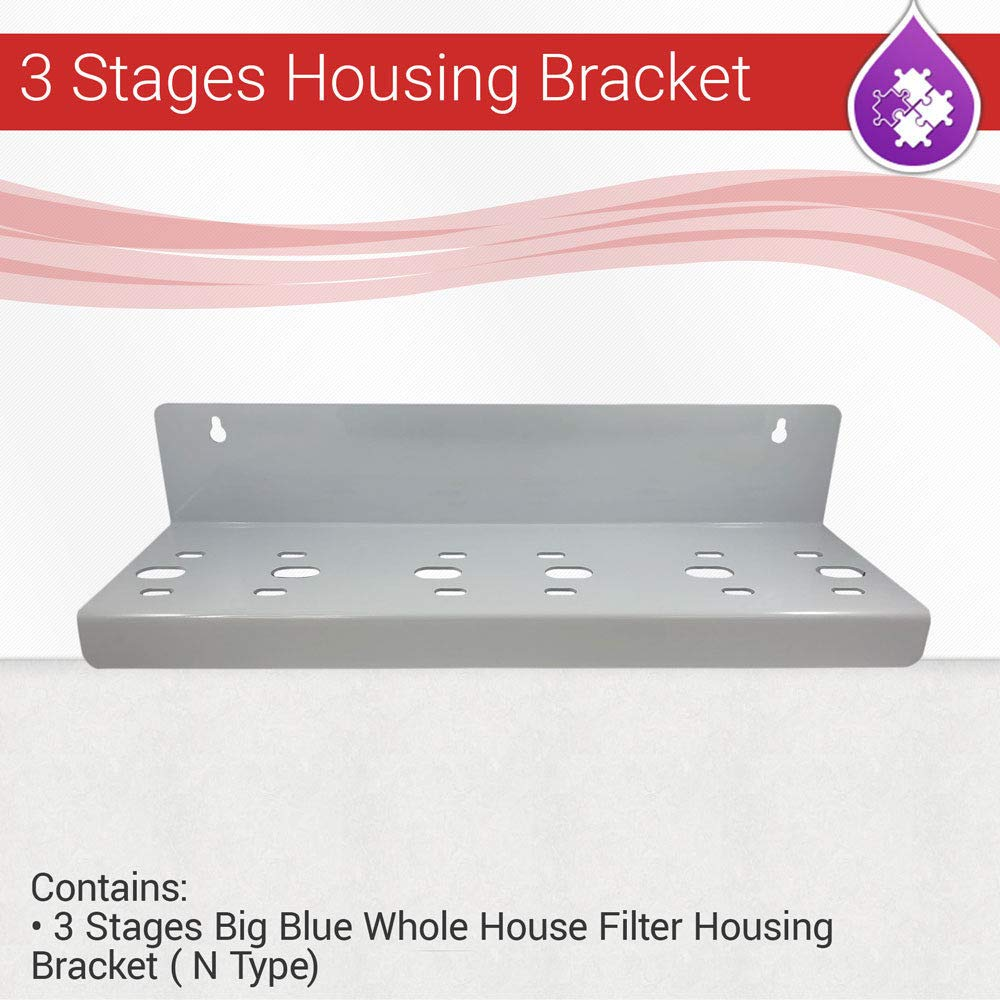 Max Water 3 stages Big Blue whole house Filter Housing Bracket N Type