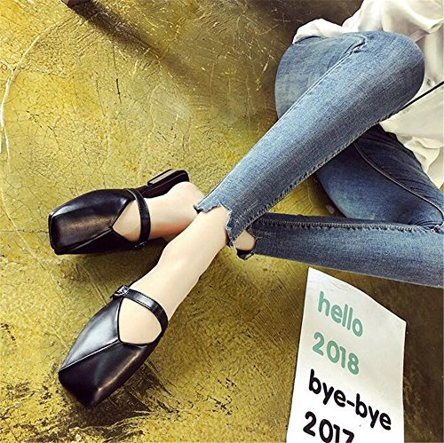Women Slide Slip Flat Dressy Work Slipper Loafer Mule On Business Black Casual Mule gUfpwxrqg