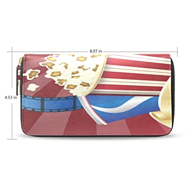 Amazon.com: Delicioso Casual Food Popcorn Cartera larga para ...