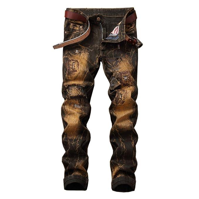 FELZ Vaqueros para Hombre, Pantalones Vaqueros Tallas ...