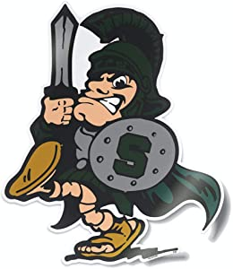 Michigan State Spartans MSU Vintage Sword Sparty Logo from The College Vault Car Window Decal Bumper Sticker Laptop Sticker