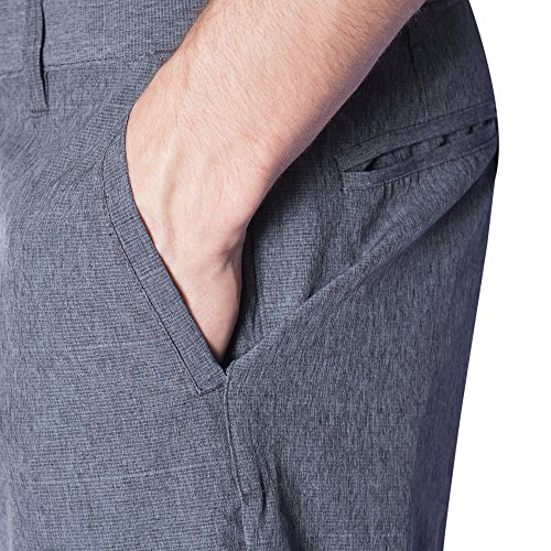 3aed4a8ff8 ... Burnside Hybrid Shorts for Men Quick Dry Stretch Lightweight Golf Short/ Boardshort-(Charcoal ...