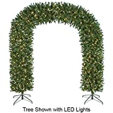 "8'Hx95""W Arch Door Pine Lighted Artificial Christmas Tree w/Stand -Green"