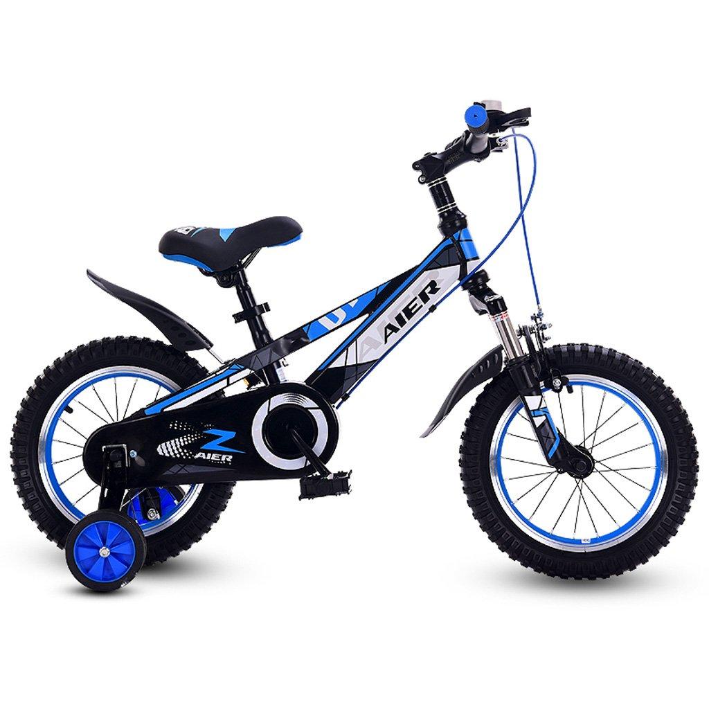 子供の自転車12/14/16インチ衝撃吸収男性と女性の子供の自転車2-8赤ちゃんの自転車青 ( Size : 16 inch blue ) B07DP29CSG