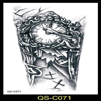 9 piezas Pegatinas de tatuaje Europa y América Simulación creativa ...