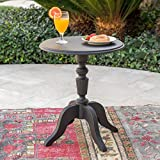 Eco-Cross Patio Furniture |Outdoor Side Table | 100% Post Consumer Recycled Nylon | In Classical Black