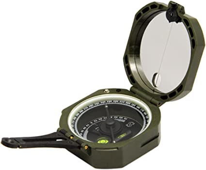NEW Pocket Army Green Transit Plastic Compass travel Hiking Surveyors Foresters
