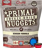 Primal Pet Food - Freeze Dried Dog Food 14-ounce Bag - Made in USA (Venison)