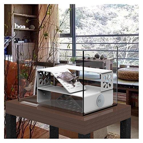 (Double Layer Acrylic Turtle Reptile Basking Platform Amphibian Duplex House Shape(Without Glass Tank))