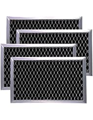 AMI PARTS JX81J Optional Microwave Recirculating Charcoal Filter Kit for GE JX81J B02X11124, WB06X10823(4-Pack)