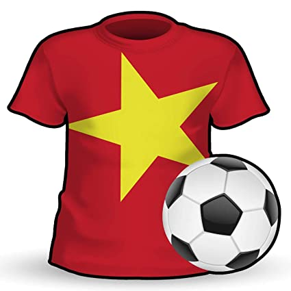 finest selection 1da17 a6680 Amazon.com: Makoroni - VIETNAM T Shirt & Soccerball Shape ...