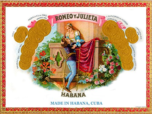 Quality poster in Paper or Canvas.Cuban cigar Romeo y Julieta tobacco ()