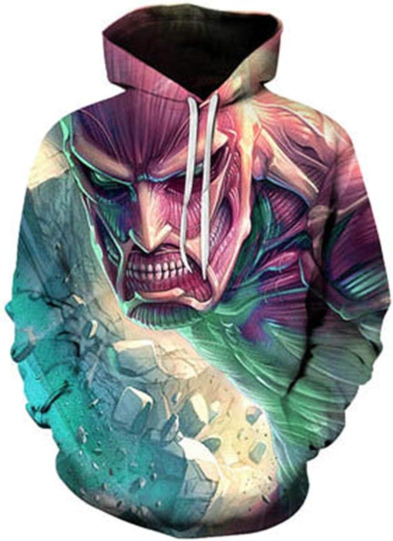 Color Vortex 3D Hoodie Personality Sphere Print Hoodie Men Tide Loose Sweatshirt