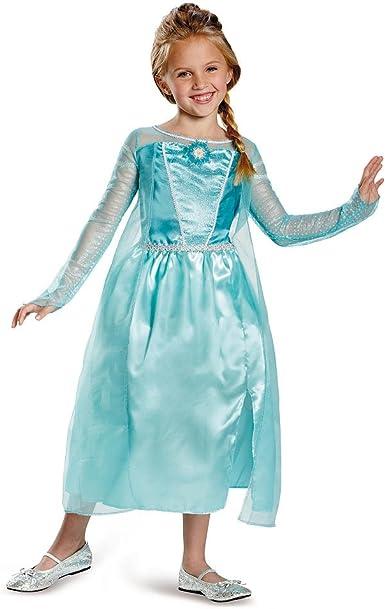Disney Disfraz de Elsa de Frozen, Talla 7-8: Amazon.es: Ropa y ...