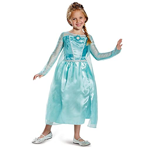 Amazoncom Disney Frozen Elsa Halloween Costume Size 7 8 Clothing