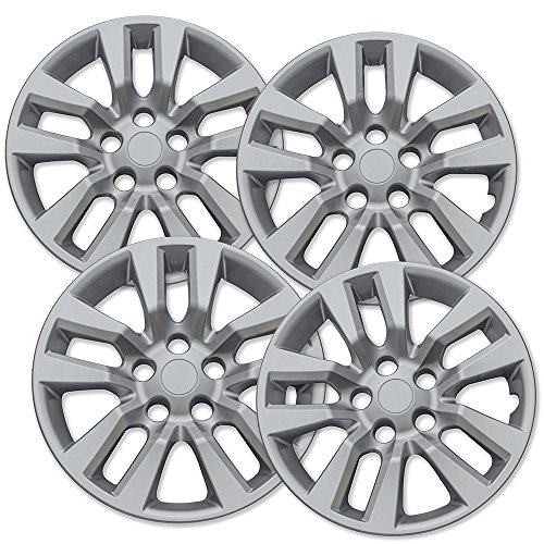(16 inch Hubcaps Best for 2013-2019 Nissan Altima - (Set of 4) Wheel Covers 16in Hub Caps Silver Rim Cover - Car Accessories for 16 inch Wheels - Snap On Hubcap, Auto Tire Replacement Exterior Cap)