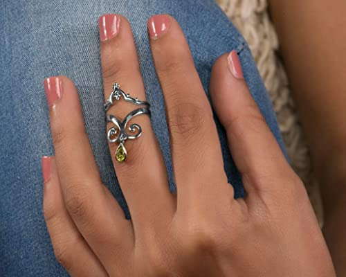 Midi Ring Sterling Silver Moon And Stars Adjustable Midi Ring Sized To Fit