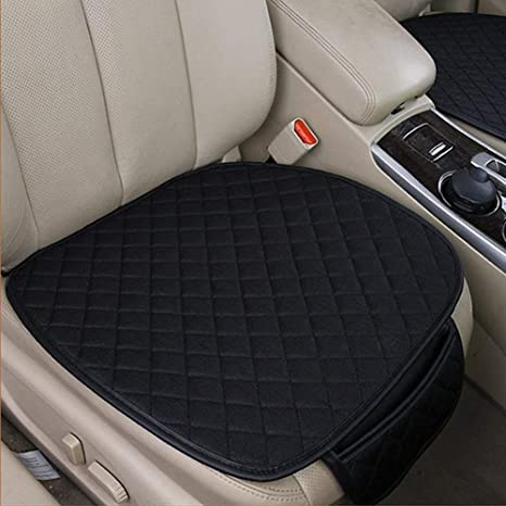 Breathable Pad Bamboo Charcoal Cushion Car Front Seats Cover PU Leather Mat