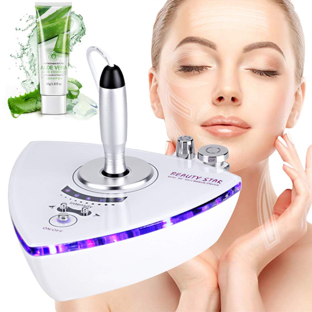Beautystar [Upgrade Version] Beauty Star RF Radio Frequency Facial Machine Home Use Portable Facial Machine for Skin Rejuvenation Wrinkle Removal Skin Tightening Anti Aging Skin Care White