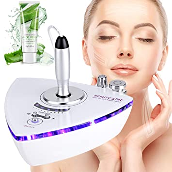 Beauty Star RF Radio Frequency Facial Machine, Home Use Portable Facial Machine for Skin Rejuvenation