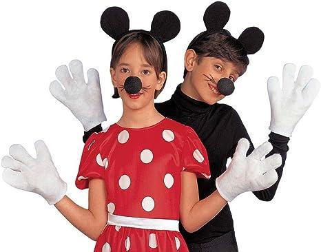 Conjunto de disfraz de ratón Niños Minnie Mouse cubierta Blanco ...