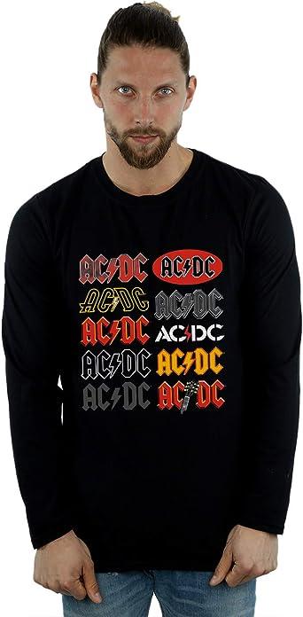 AC/DC Hombre Multi Logos Camiseta De Manga Larga: Amazon.es: Ropa y accesorios