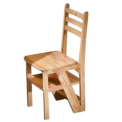 Li Jing Firm Folding Ladder Multifunctional Ladder Wooden Ladder Chair/Folding  Chair 4 Storey Home