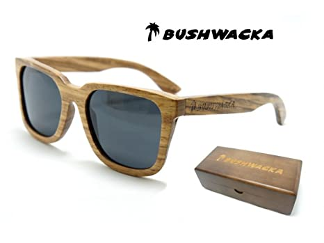 Nuevo Bushwacka Playa-Flamenca Gafas de sol de madera hechas a mano polarizadas. Gafas