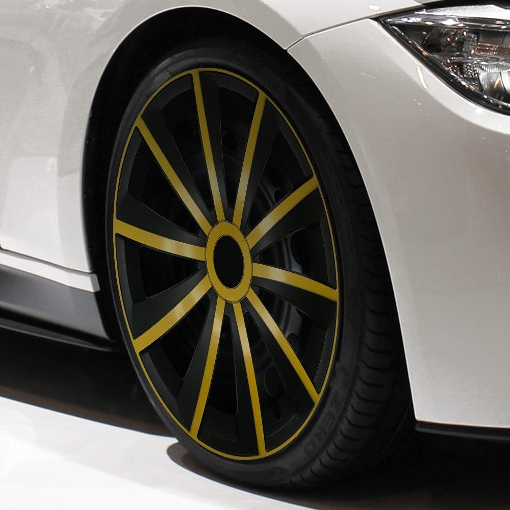 15 Zoll passend f/ür fast alle Opel z.B f/ür Corsa D GRAL Gelb//Schwarz