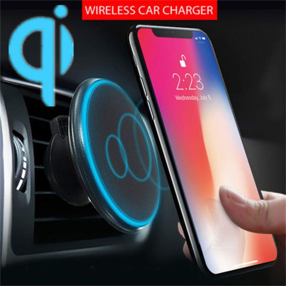 South Weekend 2018 New iPhone Wireless Charger,Qi Wireless Car Charger Magnetic Air Vent Mount Holder for iPhone Xs Max/XS/XR (Black)