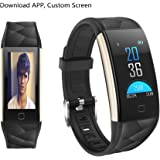 2018 NEW Fitness Tracker HR, Heart Rate Monitor Activity Band Blood Pressure Sleep Monitor Pedometer, 0.96inch TFT Colorful OLED Screen Waterproof Bluetooth Smart Bracelet for Kids Women Men