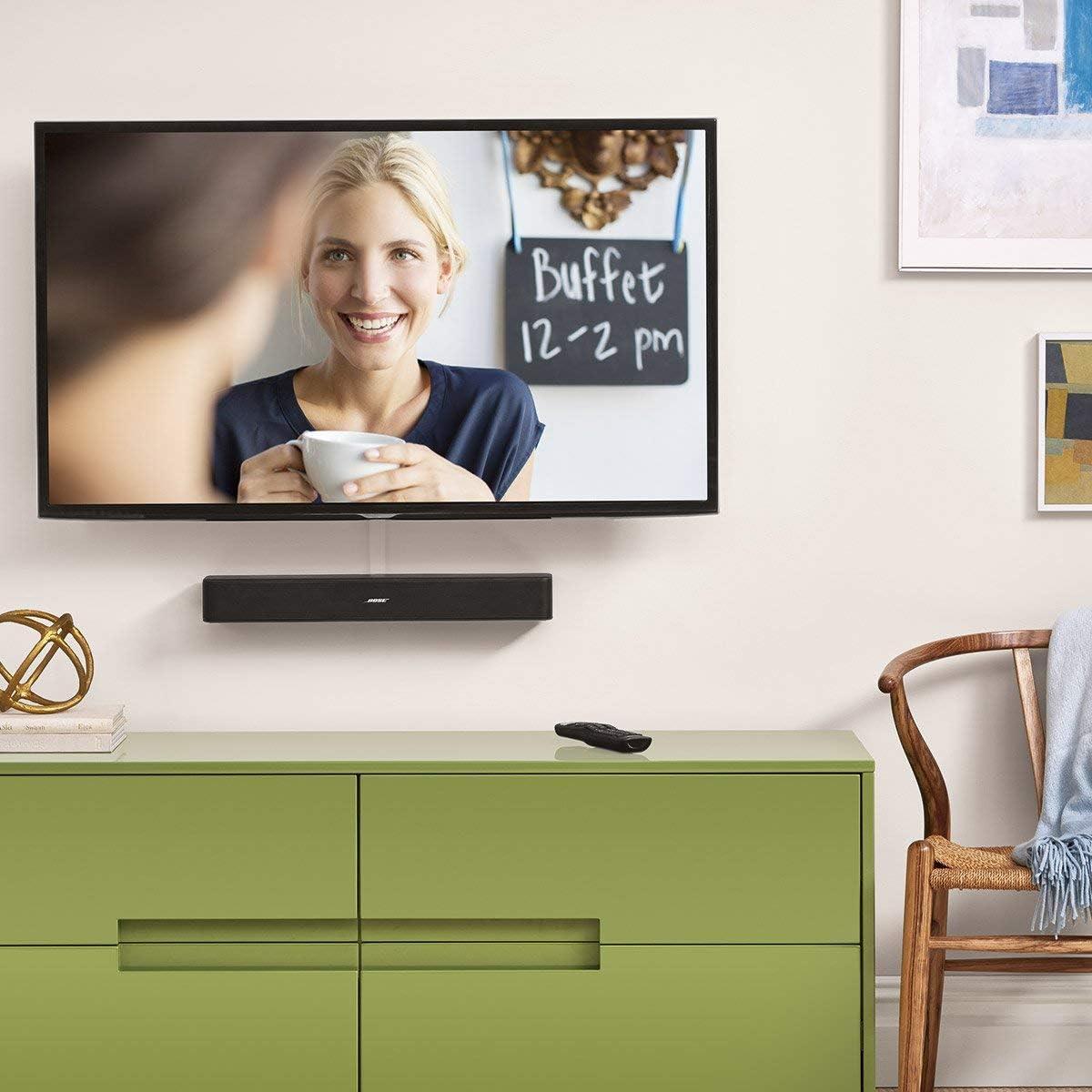 Black Bose Solo 5 TV Soundbar Sound System with Universal Remote Control