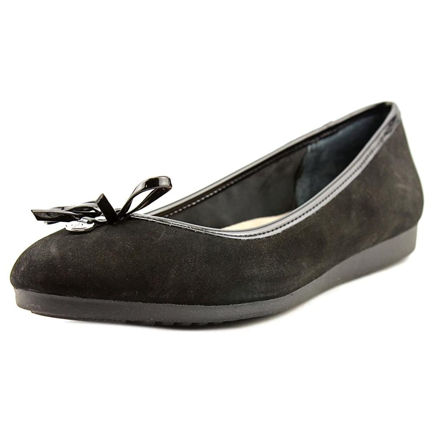 3cde1c8b9b6a low-cost Giani Bernini Odeysa Women Round Toe Suede Black Flats ...