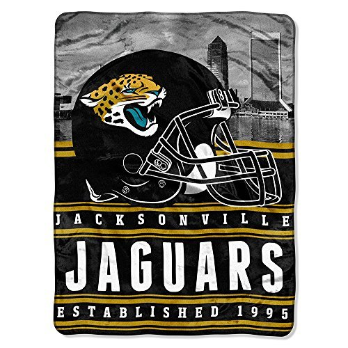 Northwest 071 Raschel Throw Company NFL Jacksonville Jaguars Stacked Silk Touch Blanket, 60 80-Inch