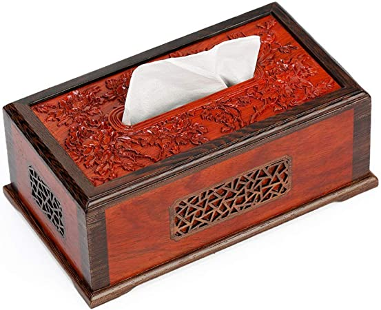 Reeamy-Home Caja de pañuelos Caja de Papel for Uso doméstico cajón de Madera servilleta hogar gaveta de Ideas Sostenedor del Tejido (Color : Picture Color, Size : Free Size): Amazon.es: Hogar