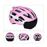 V-Best Bike Cycling Helmet with Detachable Magnetic Goggles Visor Shield Adjustable Men Women Road & Mountain Biking Bicycle Helmet Safety Protection
