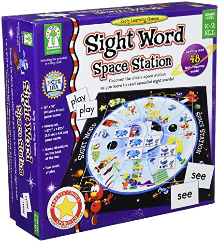 (Sight Word Space Station Educational Board Game)