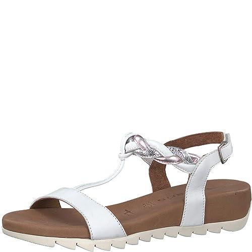 Tamaris 1 1 28709 22 Femme Sandales compensées,Sandales,Sandales compensées,Chaussures d'été,Confortable,Plat,Touch IT