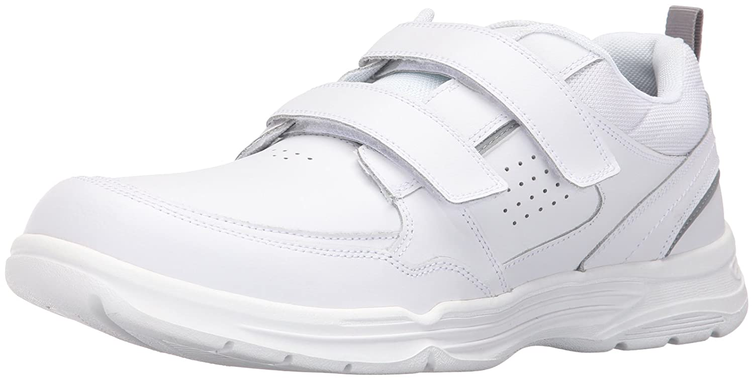 Amazon.com | Rockport Men's State-o-Motion Velcro Strap, White Leather |  Sandals