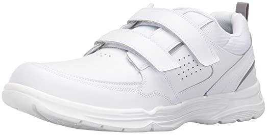 Rockport Men's State-o-Motion Velcro Strap , White Leather, ...