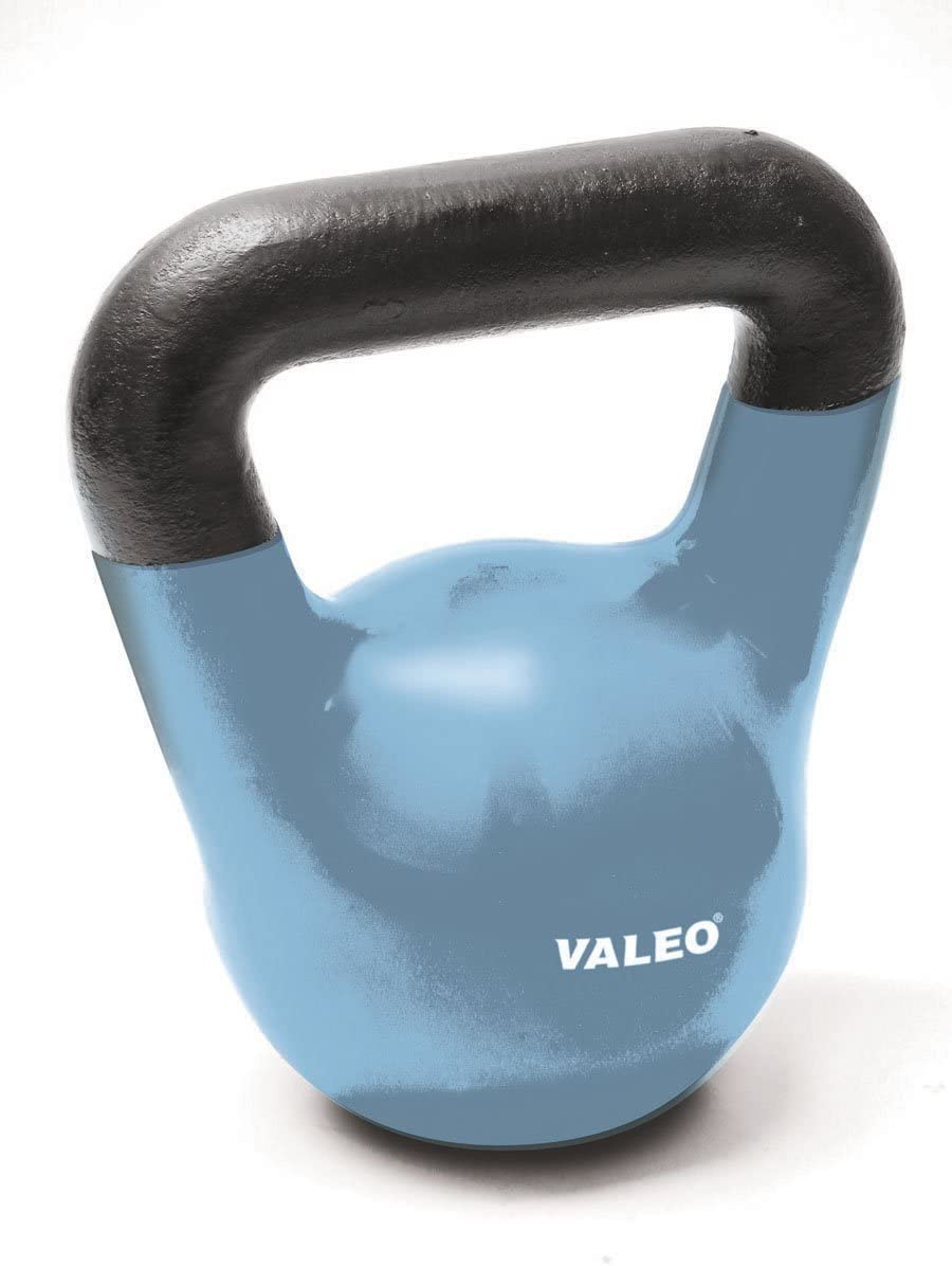 Valeo 10-Pound Kettle Bell Weight With Cast Iron Handle For Squats, Pulls and Overhead Throws To Build Strength And Endurance