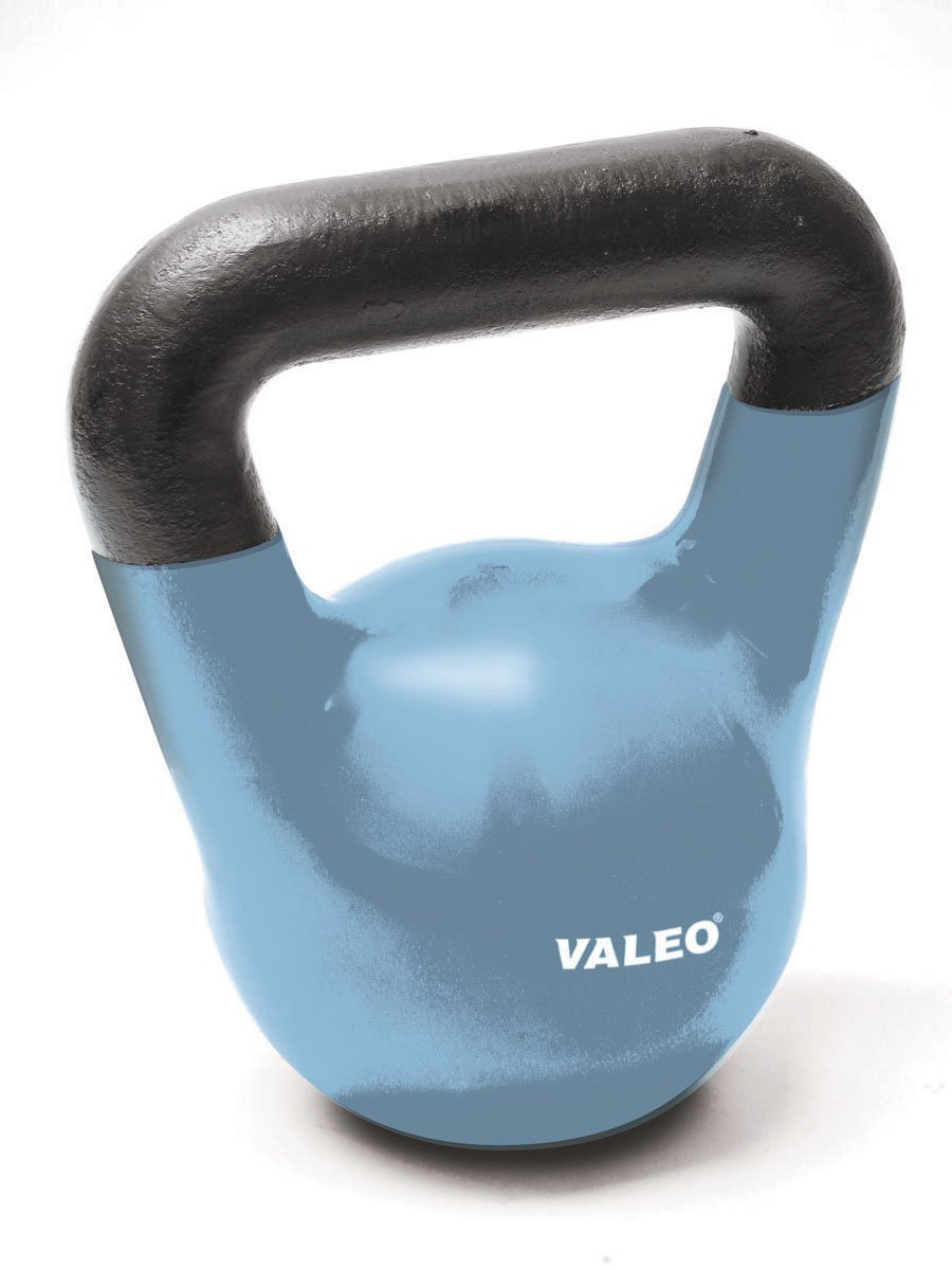 Valeo 10-Pound Kettle Bell Weight With Cast Iron Handle For Squats, Pulls and Overhead Throws To Build Strength And Endurance by Valeo