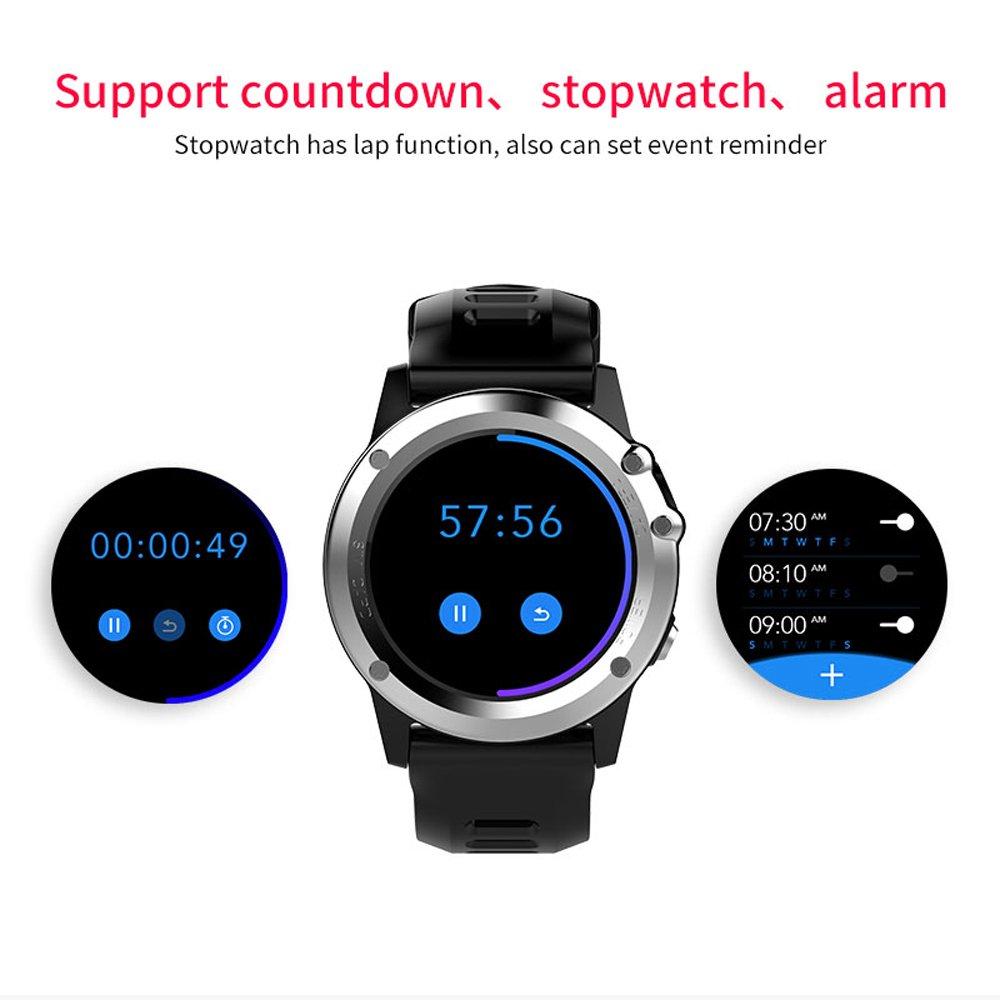 Docooler Microwear H1 JM01 Smartwatch Teléfono con Reloj 3G WCDMA Cámara de 5MP Wifi BT3.0 + 4.0 Impermeable GPS Frecuencia cardíaca del podómetro ...