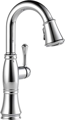 Delta Faucet Cassidy Single-Handle Bar Faucet, Bar Sink Faucet, Prep Sink Faucet with Diamond Seal Technology, Lumicoat Chrome 9997-PR-DST